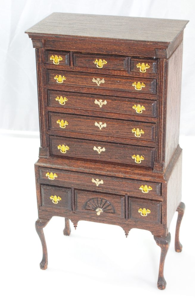 Chippendale Flat Top Highboy - Authentic Reproductions in Miniature?