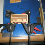 Ratcheting F-Clamps are one of the tools you want when building miniature furniture