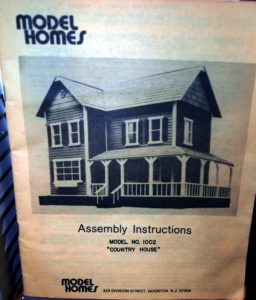 Model Homes brand dollhouse instruction booklet cover