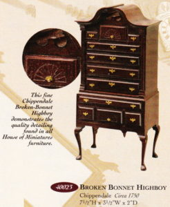 Best miniature furniture kit? Chippendale Broken Bonnet Highboy