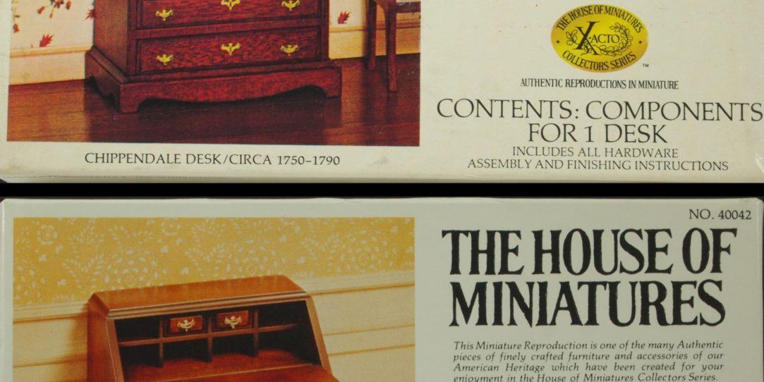 Miniature Slant Front Desk - Authentic Reproductions in Miniature?