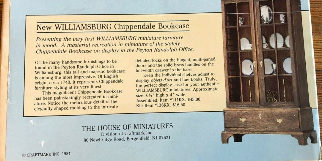 Peyton Randolph Office Bookcase, the Colonial Williamsburg Connection